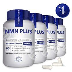 NMN PLUS NMN 500 mg 60 캡슐 X 4팩