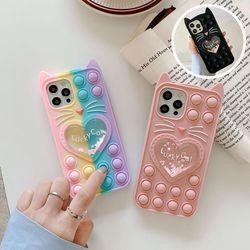 아이폰12 11 pro max xs 8 고양이 글리터 팝잇 케이스