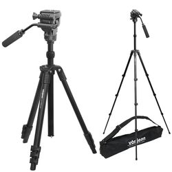 VT-343T 프리미엄 키큰 카메라 삼각대 + VD-605 비디오 헤드 SET