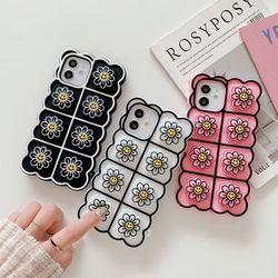아이폰12 11 pro max xs 8 스마일 꽃 푸쉬팝 폰케이스