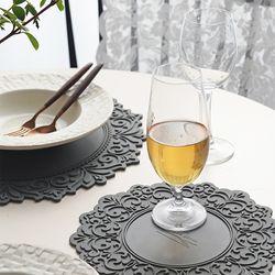 컬러 레이스 식탁매트 실리콘 테이블 매트 (6 Color)