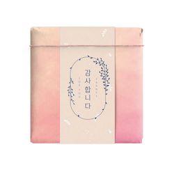 핑크 리프 감사 띠종이 (10개)
