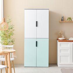 C3394 광폭 냉장고형 4도어 수납장 800 6colors