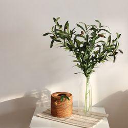 올리브 나무 조화 가지 100cm 대형