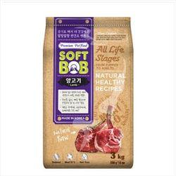국산 강아지사료 소프트밥 양고기 3kg 개사료 애견사료
