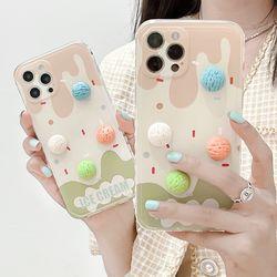 아이폰 12 11 XR SE2 8 아이스크림 실리콘 폰케이스
