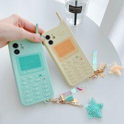 아이폰 12 11 pro max 레트로 전화기 글리터 케이스