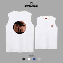 기린달 남자 빅사이즈 나시 티셔츠 프린팅 민소매