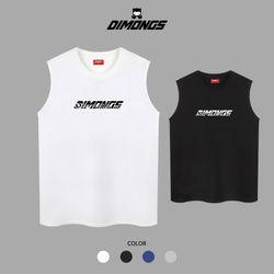커브 남자 빅사이즈 나시 티셔츠 프린팅 민소매