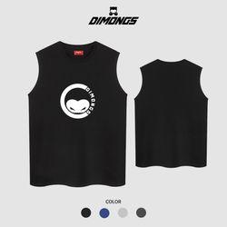 써클라인 남자 빅사이즈 나시 티셔츠 프린팅 민소매