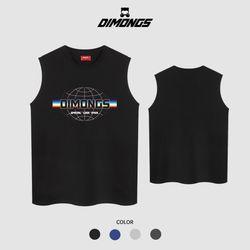 레인보우 남자 빅사이즈 나시 티셔츠 프린팅 민소매
