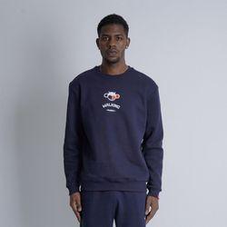 워킹몽키 남자 빅사이즈 맨투맨 프린팅 티셔츠