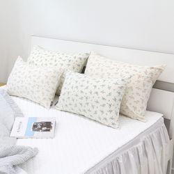 라온 플라워 베개 커버 40X60cm 2colors 솜별매