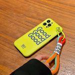 아이폰12 11 XR SE2 XS 8 GOOD 형광스트랩 폰케이스