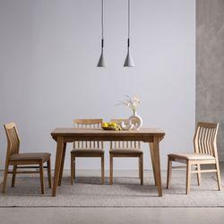 하온 원목 고무나무 6인용식탁 의자 식탁 세트