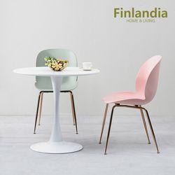 핀란디아 러브 원형 2인 식탁테이블세트(의자2)