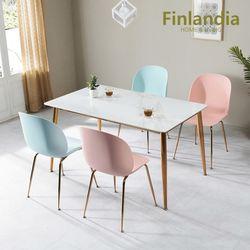 핀란디아 허브 4인 통세라믹 식탁세트(의자4)