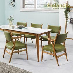 핀란디아 파코 6인 통세라믹 식탁세트(의자6)