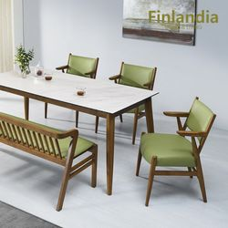 핀란디아 파코 6인 통세라믹 식탁세트(의자3벤치1)