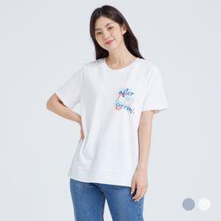 [클라비스] 왼가그래픽우븐매칭티셔츠2colorsCVHWB3705Q