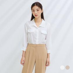 [클라비스] 변형카라포켓셔츠2colorsCVYWB3802M