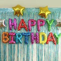 생일 파티 홈파티 해피벌스데이 풍선 5color
