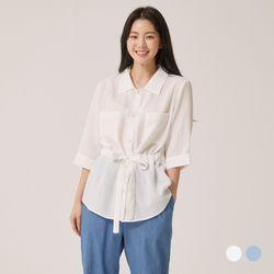 [클라비스] 벨트형카라셔츠2colorsCVYWB2502Q