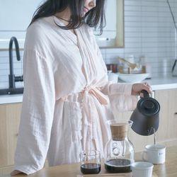 아르셰 에어로브 여자 여름샤워가운 린넨 잠옷 홈웨어