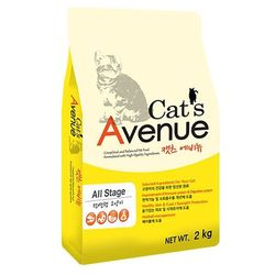 국산 고양이사료 캣츠 에비뉴 2kg 고양이밥