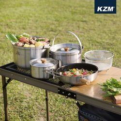 카즈미 캠핑용품 프리미엄 코펠세트 (XL)