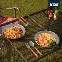 카즈미 캠핑용품 캠핑 식기세트 (15P)