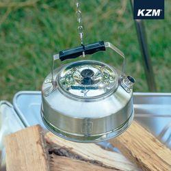 카즈미 캠핑용품 스텐레스 캠핑주전자 0.8L