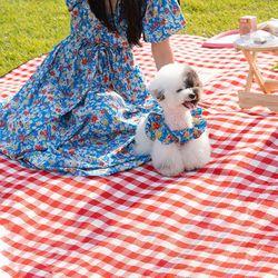 엄마랑 커플옷 블로썸 크롭 원피스 - 블루