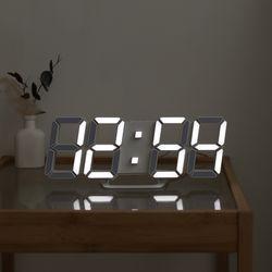 무아스 프리미엄 리얼 화이트 3D LED 벽시계