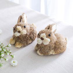 미니 짚단 토끼 1P