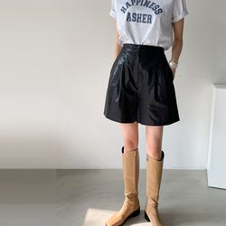 Black Pintuck Shorts