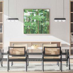 우거진 숲 캔버스 그림 액자 거실 인테리어(60x60cm)