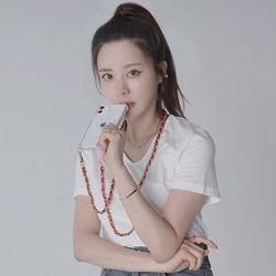 크리츠 댕글 레더체인 핸드폰 목걸이 케이스 아이폰12 갤럭시S21