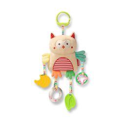 아기 유모차걸이 매달리는 바스락 딸랑이 부엉이 인형