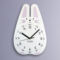 토끼 어린이 감성 무소음 교육용 벽시계 바니