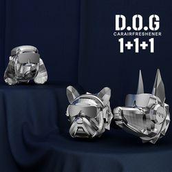 도그독 명품 차량용 방향제 D-E1 3종세트 (푸들.도베르만.불독)