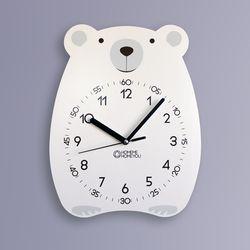 곰 어린이 감성 무소음 교육용 벽시계 베니