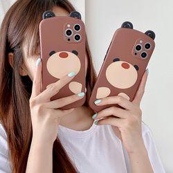 아이폰12 11 XR SE2 X 8 입체귀 곰돌이 휴대폰 케이스