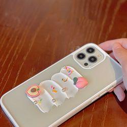 아이폰12 11 XR SE2 8 복숭아 스프링클 클리어 케이스