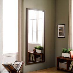 디자이너스룸 리아 와이드 우드 전신 벽 거울