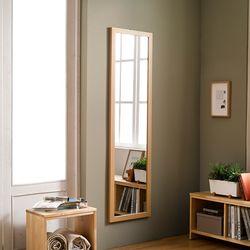 디자이너스룸 리아 슬림 우드 전신 벽 거울