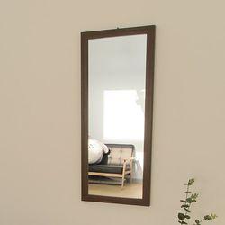 디자이너스룸 리아 슬림 우드 벽 거울 900
