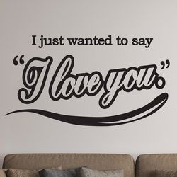 I just i love you 감성 레터링 스티커 large
