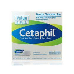 Cetaphill 세타필 젠틀 클렌징 비누 바 6개 세트 건성민감성피부