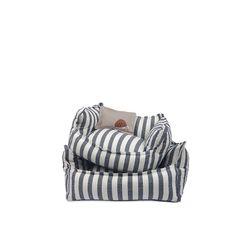Gentle Navy Stripe Cushion